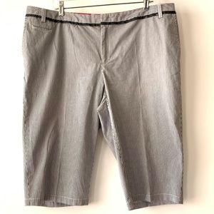 Avenue Pinstripe Bermuda Shorts Sz 18